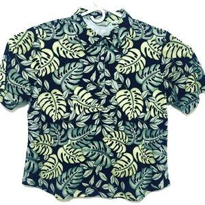 Tommy Bahama Short Sleeve Silk/Cotton Blend (XL)